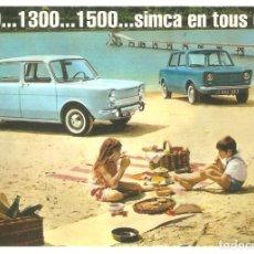 Postales: PUBLICIDAD DE EPOCA, SIMCA 100, SERIE 2 , SIN CIRCULAR.. Lote 114723503