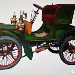 Postal Coche de época Humber 5 H.P. 1903 10,3 x 14,9 Coches de época - Coches antiguos SIN CIRCULAR