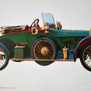 Postal Coche de época Enfield Nimble Nine 9 H.P. 1913 Coches antiguos 10,3 x 14,9 SIN CIRCULAR