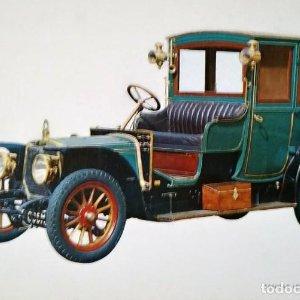 Postal Coche de época Panhar Levason 1912 x 17 SS Coches antiguos 10,3 x 14,9 SIN CIRCULAR