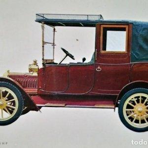 Postal Coche de época Adler 1912 K 7/15 H P Coches antiguos 10,3 x 14,9 SIN CIRCULAR