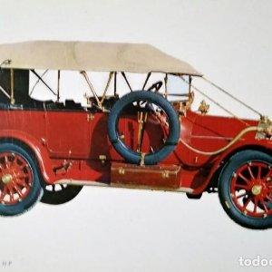 Postal Coche de época ITALA 1912 25/35 H P Coches antiguos 10,3 x 14,9 SIN CIRCULAR