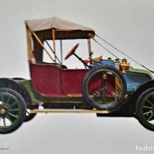 Postal Coche de época RENAULT 1906 Caroline - Coches antiguos 10,3 x 14,9 SIN CIRCULAR
