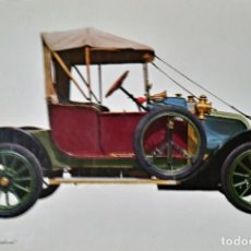 Postales: POSTAL COCHE DE ÉPOCA RENAULT 1906 CAROLINE - COCHES ANTIGUOS 10,3 X 14,9 SIN CIRCULAR. Lote 115401907