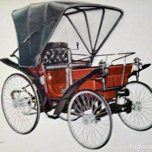 Postal Coche de época PEUGEOT 1891 - Coches antiguos 10,3 x 14,9 SIN CIRCULAR