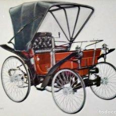 Postales: POSTAL COCHE DE ÉPOCA PEUGEOT 1891 - COCHES ANTIGUOS 10,3 X 14,9 SIN CIRCULAR. Lote 115402191