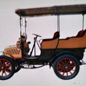 Postal Coche de época DE DION BOUTON 8 H.P. 1902 - Coches antiguos 10,3 x 14,9 SIN CIRCULAR