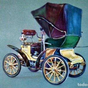 Postal Coche de epoca FIAT 3 1/5 - 1899 - Coches antiguos 10,3 x 14,9 ESCRITA - SIN SELLO
