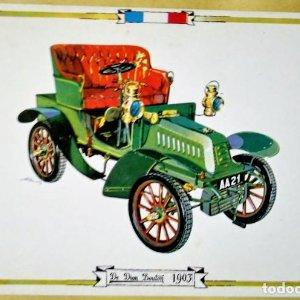 DE DION BOUTON 1903 Postal Coches antiguos - coches de época - coches clásicos 15x10 sin circular