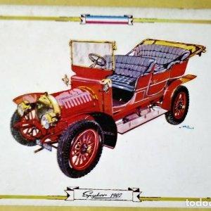 SPIKER 1907 Postal Coches antiguos - coches de época - coches clásicos 15x10 sin circular
