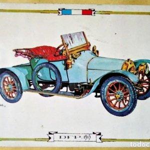 DFP 1913 Postal Coches antiguos - coches de época - coches clásicos 15x10 sin circular