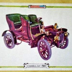 CADILLAC 1906 Postal Coches antiguos - coches de época - coches clásicos 15x10 sin circular