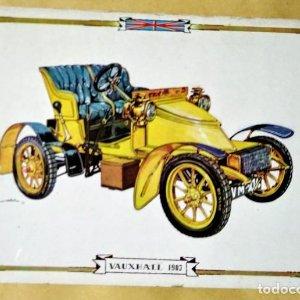 VAUXHALL 1903 Postal Coches antiguos - coches de época - coches clásicos 15x10 sin circular