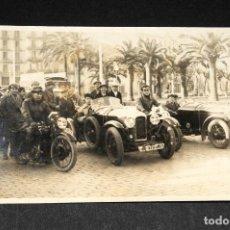 Postales: TARJETA POSTAL FOTOGRAFIA COCHES Y MOTOS EN CARRERAS. Lote 116901367