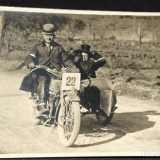 Postales: TARJETA POSTAL FOTOGRAFIA MOTOS EN CARRERAS. Lote 117422347