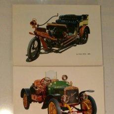 Postales: 3 POSTALES AUTOMOBILES ANTIGUOS - CAJA PENSIONES VEJEZ Y AHORROS - MODELOS CI - C5 - C9. Lote 117600187