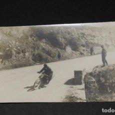 Postales: TARJETA POSTAL FOTOGRAFIA MOTO EN CARRERAS. Lote 117973839