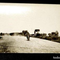 Postales: TARJETA POSTAL FOTOGRAFIA MOTO EN CARRERAS. Lote 117974267