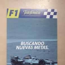 Postales: TARJETA POSTAL AUTOMOVILISMO MOTOR FORMULA 1 F1 TELEFONICA MOVISTAR SIN CIRCULAR. Lote 120465155