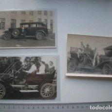 Postales: 3 POSTALES ANTIGUAS DE AUTOMÓVILES, FOTOGRÁFICAS. Lote 121205307