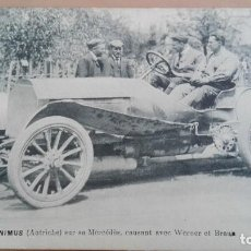 Postales: POSTAL COCHES AUTOMOVILISMO HIERONIMUS AUSTRIA SUR MERCEDES WERNER EDI VCD PERFECTA CONSERV DEPORTES. Lote 121599539