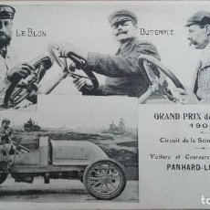 Postales: POSTAL COCHES AUTOMOVILISMO GRAND PRIX 1907 LEBLON DUTEMPLE HEATH PERFECTA CONSERV CIRCUIT SEINE INF. Lote 121609587