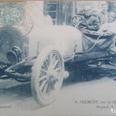 Postales: POSTAL COCHES AUTOMOVILISMO A CLEMENT BAYARD SUR 120 CHEVAUX EDIC VCD PERFECTA CONSERVAC DEPORTES. Lote 121610259