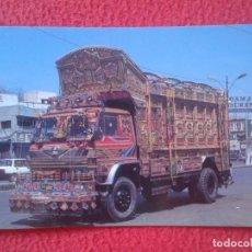 Postales: POSTAL POST CARD CARTE POSTALE PAKISTÁN PAKISTÁN CAMIÓN PAKISTANI LOADED TRUCK TRAVELLING TOWARDS . Lote 122365847