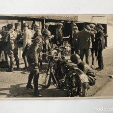 Postales: TARJETA POSTAL FOTOGRAFIA MOTOS EN CARRERAS. Lote 123047843