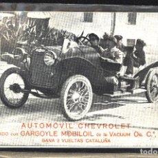 Postales: TARJETA POSTAL FOTOGRAFIA COCHE DE CARRERAS-AUTOMOVIL CHEVROLET. Lote 123833963