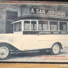 Postales: TARJETA POSTAL FOTOGRAFIA AUTOBUS A SAN JERONIMO- AERIO DE MONTSERRAT. Lote 124346259