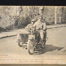 Postales: TARJETA POSTAL FOTOGRAFIA MOTOS EN CARRERAS- VUELTA A FRANCIA 1922-VULLIAMY VENCEDOR. Lote 124346415