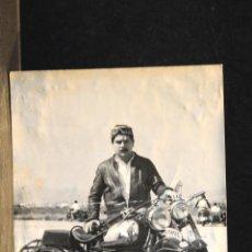 Postales: TARJETA POSTAL FOTOGRAFIA MOTOS EN CARRERAS. Lote 124346691
