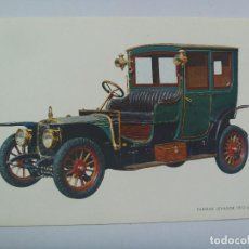Postales: POSTAL CON DIBUJO DE UN COCHE DE EPOCA : PANHARD LEVASSOR 1912. Lote 126148219