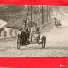Postales: CARRERA DE MOTOS CON SIDECAR. MONTESA?. Lote 126779303