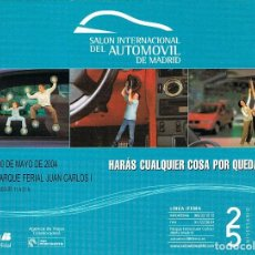 Postales: SALON INTERNACIONAL DEL AUTOMOVIL DE MADRID, AÑO 2004. Lote 127124199