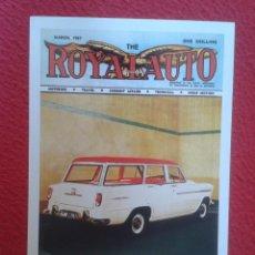 Postales: POSTAL POST CARD CARTE POSTALE CON PORTADA REVISTA MAGAZINE ROYAL AUTO DE 1957 CON COCHE SIMCA VER F. Lote 127834167