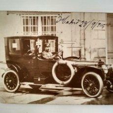 Postales: POSTAL FOTOGRAFIA COCHE ANTIGUO, AÑO 1915. Lote 128922379