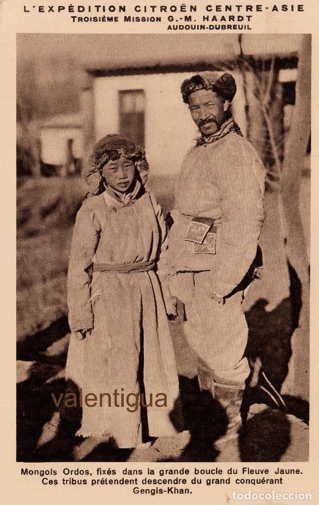 MAGNÍFICA POSTAL L´EXPEDITION CITROËN CENTRE ASIE 3º MISSION G. M. HAARDT 1931-1932 CRUCERO AMARILLO (Postales - Postales Temáticas - Coches y Automóviles)