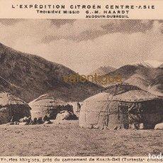 Postales: MAGNÍFICA POSTAL L´EXPEDITION CITROËN CENTRE ASIE 3º MISSION G. M. HAARDT 1931-1932 CRUCERO AMARILLO. Lote 129529795