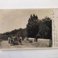 Postales: TARJETA POSTAL FOTOGRAFIA COCHE DE CARRERAS- CARRETERA DE PUICERDA A SEU DE URGELL. Lote 129547035