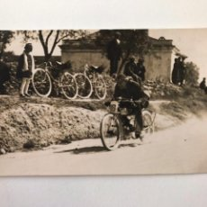 Postales: TARJETA POSTAL FOTOGRAFIA MOTOS EN CARRERAS. Lote 129738699