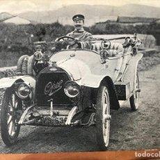 Postales: POSTAL DE UN COCHE AUTOMOVIL OPEL DE 1912 - DETRAS OTTO HERZOG BARCELONA - NO ESCRITA NI CIRCULADA. Lote 132119238