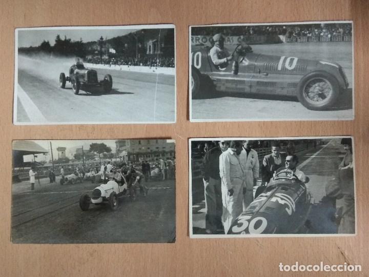 LOTE DE 4 FOTOS DE CARRERAS DE COCHES (Postales - Postales Temáticas - Coches y Automóviles)