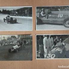 Postales: LOTE DE 4 FOTOS DE CARRERAS DE COCHES. Lote 132171366
