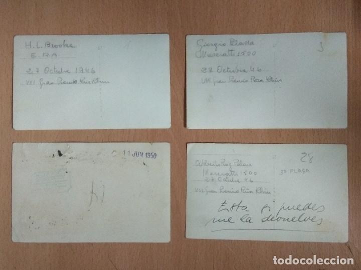 Postales: LOTE DE 4 FOTOS DE CARRERAS DE COCHES - Foto 2 - 132171366