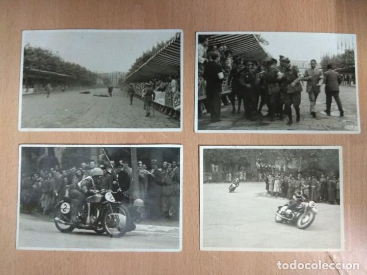 LOTE DE 4 FOTOGRAFIAS CARRERAS DE MOTOS (Postales - Postales Temáticas - Coches y Automóviles)