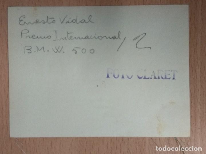 Postales: LOTE DE 4 FOTOGRAFIAS CARRERAS DE MOTOS - Foto 9 - 132335070