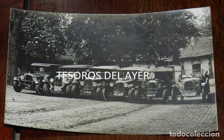 FOTOGRAFIA DE AUTOMOVILES CON SUS CONDUCTORES, FINALES DE SIGLO XIX, TAMAÑO POSTAL, NO CIRCULADA. (Postales - Postales Temáticas - Coches y Automóviles)