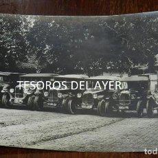Postales: FOTOGRAFIA DE AUTOMOVILES CON SUS CONDUCTORES, FINALES DE SIGLO XIX, TAMAÑO POSTAL, NO CIRCULADA.. Lote 138548402